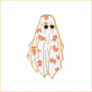 Floral Sheet Ghost Pin